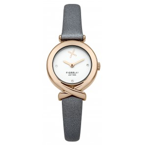 Light Blue/Grey Leather Fiorelli Watch