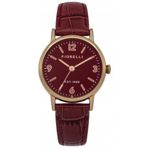 Burgundy Leather & Rose Gold Watch