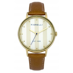 Brown Leather Strap Fiorelli Watch