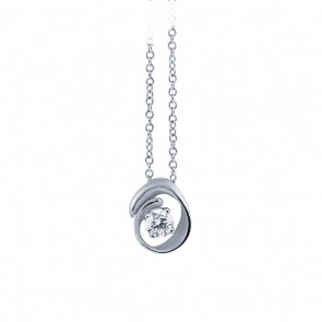 AnnaMaria Cammilli Dune 18 Carat White Gold and Diamond Pendant