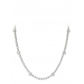 4.3ct Diamond Halo Necklace