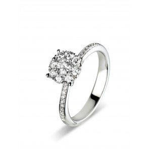 0.44ct Diamond Cluster Ring