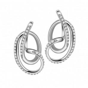 Serenity Stud Earrings with Stones