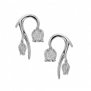18ct White Gold And White Diamond Small Maybell Earrings