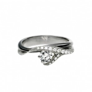 Platinum and Diamond Pave Set Vine Ring