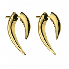 Silver And Gold Plate Talon Earrings