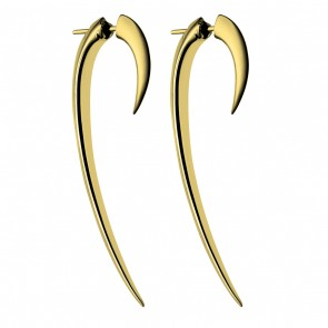 Silver And Gold Plate Hook Earrings Size 2