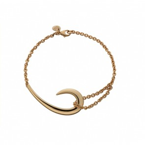 Silver And Rose Gold Plate Hook Bracelet